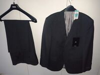 Men's M&S Charcoal grey lined suit - can separate