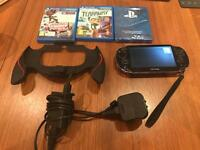 model-1000 PS vita + games + grip