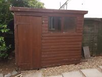 8x6 shed sound and dry