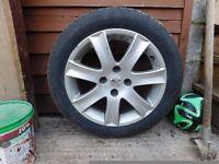 Peugeot 207 car tyre & alloy for sale