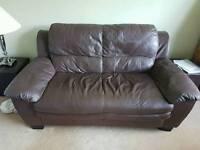 2 Faux leather sofas FOC