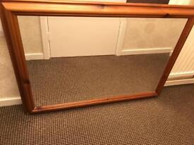 Pine Antique Mirror