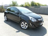 2013 BLACK CORSA 1.2 SXI LOW MILEAGE YEAR MOT CHEAP TO RUN GREAT CONDITION