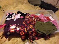 Baby girl clothes - up to 12 months old, large assorted box.