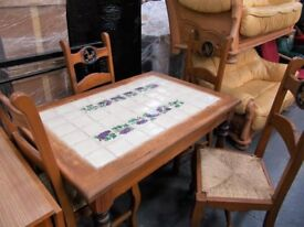 Country Table and 4 Chairs...31359D