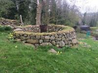 Drystone walling, travel no object