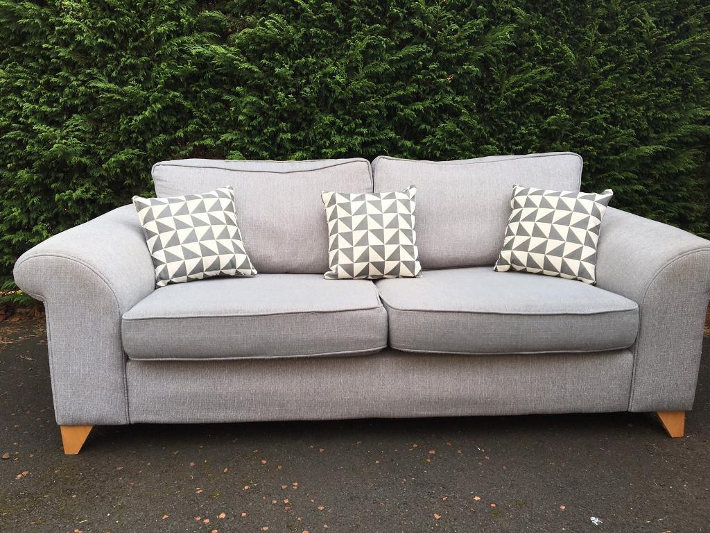 DFS 3 seater grey sofa REDUCED FOR QUICK SALE
