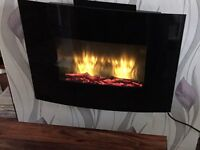 wall mounted electric fire 3 settings