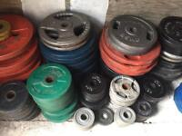 OLYMPIC WEIGHT PLATES £1 FOR 1KG SELLING CHEAP!!