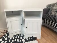 PAIR of wooden IKEA Bedside cabinets - Aspelund/Brusali