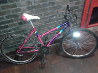 FULLY WORKING Ladies Womnen 18 speed Mountain bike with 26 inch wheels.