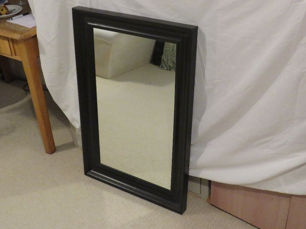 Ikea Black Wooden Framed Wall Mirror Happy To Deliver Free If Purchaser Is Local