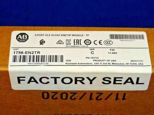 2021 FACTORY SEALED Allen Bradley 1756-EN2TR Series C Ethernet/IP ControlLogix