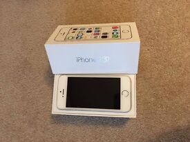 Iphone 5S 16 G Silver - With box and 2 skinnydip phone cases