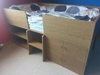 Cabin style child's bed