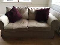 Ikea Ektorp 2 seater sofa beige