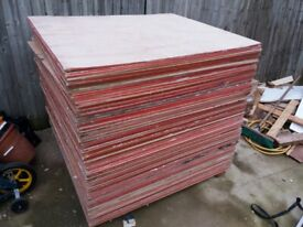 Ply Board Sheets 1200mm x 1200mm x 9mm - New/Used £4.00 SHEET