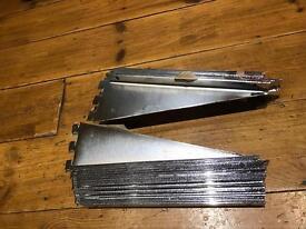 Stainless steel single slot shelf brackets 19left 19 right