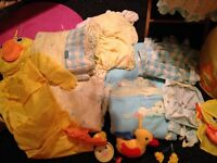 Baby bedding and accessories, duck themed