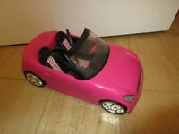 BRIGHT PINK BARBIE CONVERTIBLE CAR - IMMACULATE!