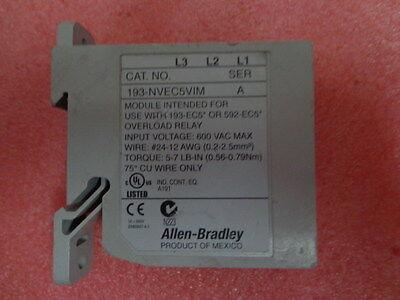 ALLEN BRADLEY 193-NVEC5VIM E3 Plus VOLTAGE INPUT Module SER:A