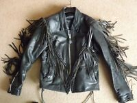 Ladies Leather Motorcycle Jacket size 12