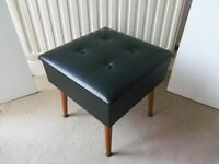 Sewing box seat / dressing stool with danset legs SHERBORNE STAMPED