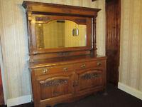 Oak Dresser with centre mirror