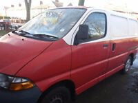Toyota hiace power short wheel van low mileage.