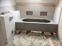 Tiling and plastering sevices.