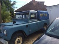 "1977 LAND ROVER SERIES 3 109"" 6 CYLINDER BLUE/GREY 2.6 pick up"
