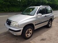 2001 suzuki vitara 1.6 clean 4x4 mot until may 2018