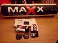 Maxx Pro Boxing Gear Punch Bag, Gloves, Wall Bracket and heavy duty chain. Brand new & never used