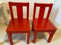 Ikea children's red chairs (+ FREE table!)