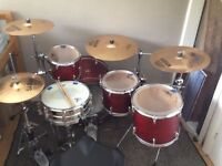 Yamaha Stage Custom drum kit (Cymbals,hardware,throne,pedal Inc)