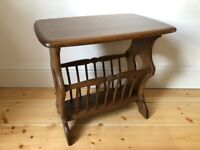 Ercol Chaucer Magazine Rack / Coffee / Side Table in Golden Dawn Model number 974 - As New Condition