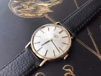 Vintage 9k 9ct Solid gold 375 Mens Rotary Swiss Watch