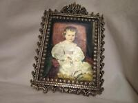 Made in Italy - Small -  Girl Picture in Metal Frame