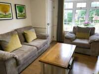 3 and 1 Seat Sofas Set Plus Designed Cushion