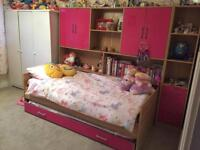 Girls bed with a pull out bed