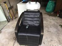 Back basin and massage chair for hair /barber salon
