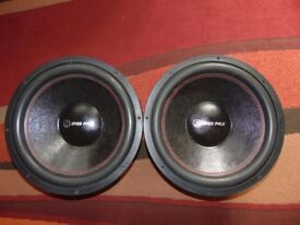 "2x bassface spl 15.2 15"" 38cm 4000 watt subwoofer 2x4ohm dvc"