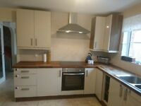 FULL KITCHEN!!! base and wall units, solid wooden worktops, sink (no tap) extractor hood and oven