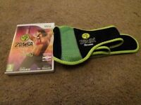 Wii Zumba Fitness game and belt