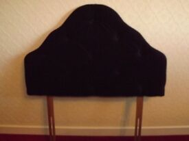 Single bed size, midnight blue, velour headboard - excellent condition