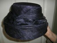 Accessorize edwardian style navy blue hat