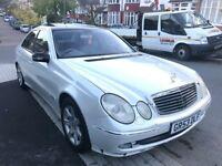 53 REG MERCEDES E320 CDI AUTO WHITE SUNROOF FULL CREAM LEATHER NOT 520D 525D 530D 730D E220 E270 A6