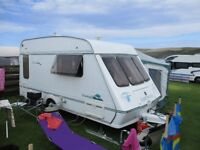 1998 FLEETWOOD 2 BERTH CARAVAN COMPLETE WITH BRADCOT AWNING
