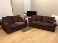 Fantastic condition pair of 3 and 2 seater sofas & pillows