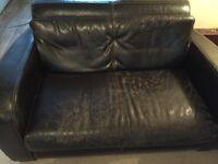 Free Dark brown leather sofas